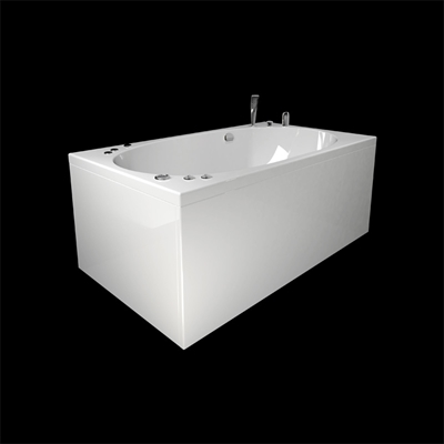 NORDEN 160 COMFORT BATHTUB 2.0+PANEL+END PANEL+OCEAN MIXER