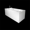 MOTION 160SQ BATHTUB 2.0+PANEL+END PANEL+OCEAN MIXER