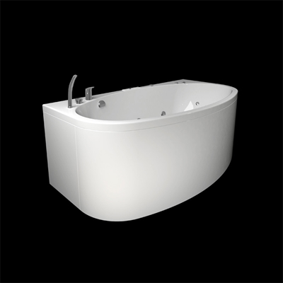 NORDEN 170O BATHTUB 2.0+PANEL+END PANEL+OCEAN MIXER