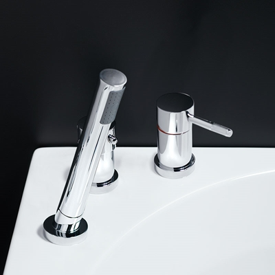 ROUND BATHTUB MIXER CHROME